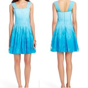 DVF Lesly Ombre Pleated Silk Dress